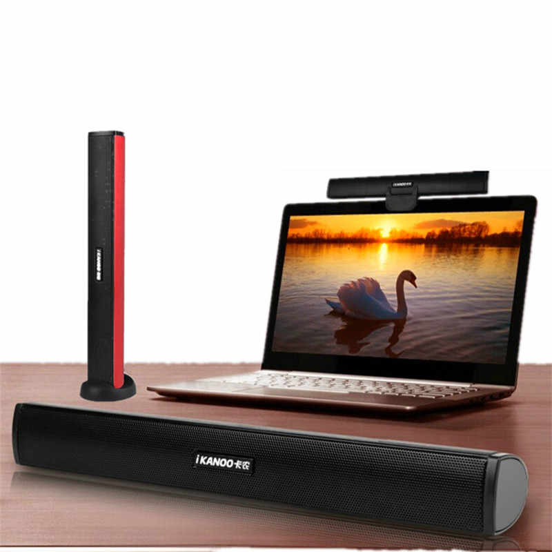 Hot Koop Ikanoo Brand USB Laptop Portable/computer Speaker Audio Soundbar mini laptop draagbare luidsprekers Geluid Bar Luidsprekers pc