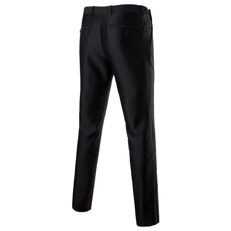 男性の 2 個黒結婚式新郎スーツとパンツ 2019 春の新スリムフィットワンボタンパーティーフォーマルビジネスドレススーツ男性 Ternos