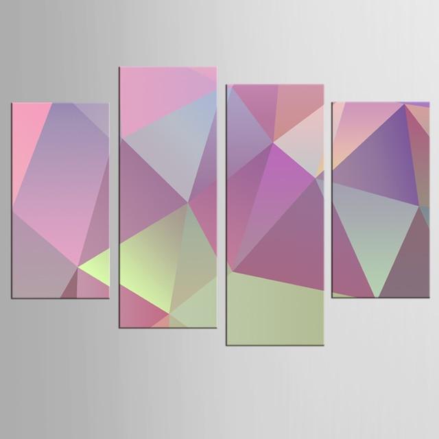 Souvent Abstraite couleur géométrique dessin peinture toile art mural  WN22
