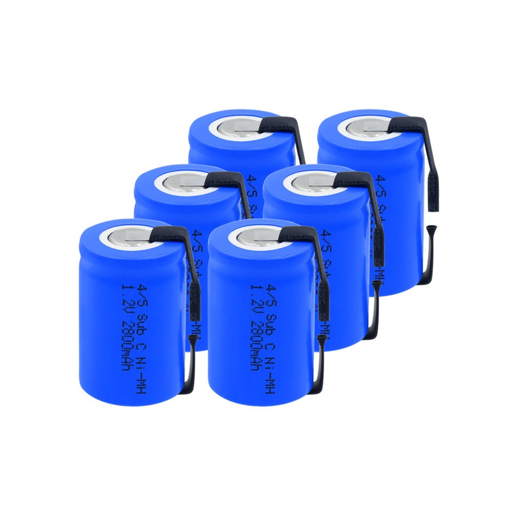 Capacità di 4/5 Batteria SC 1.2V 2800mAh 23*33 4/5 Sub C SC Ni-Mh Batterie Ricaricabili Con PCB per Eletronic Cacciaviti Strumenti