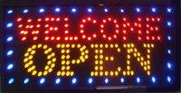 Новый рекламный свет магазин добро пожаловать открытый знак 33*60 см светодиодный неоновый знак