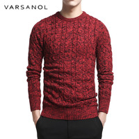 Varsanol Brand Cotton Sweater Pullover Men O Neck Casual Long Sleeve Sweaters Fit Knitting Solid Clothing