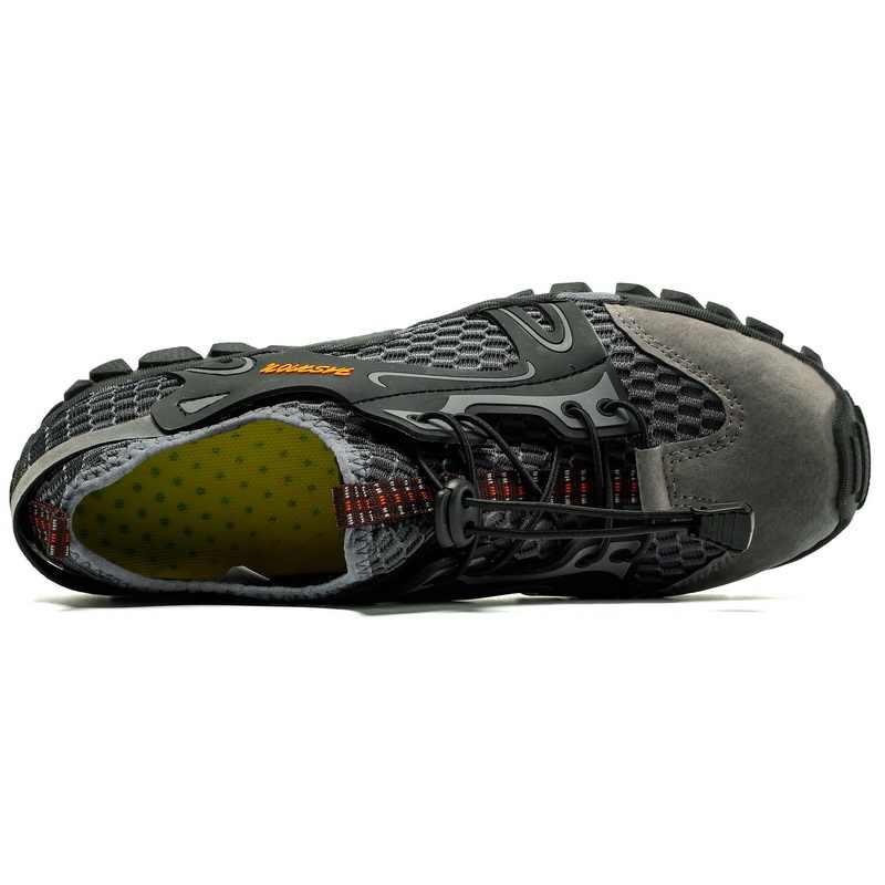 2018 г. Мужская Летняя обувь хит продаж, большой размер 37-47, удобная мужская повседневная обувь из сетчатого дышащего материала для прогулок