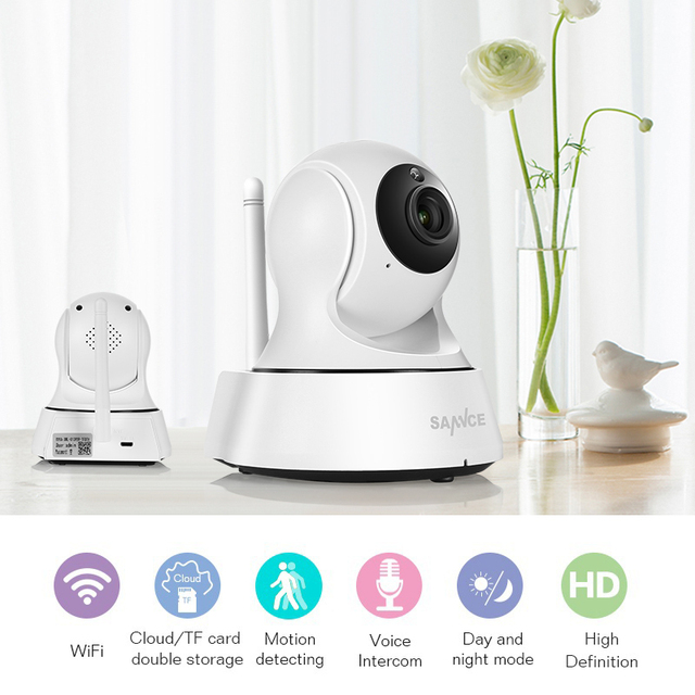 Wireless Home Security IP Camera with Night Vision 1