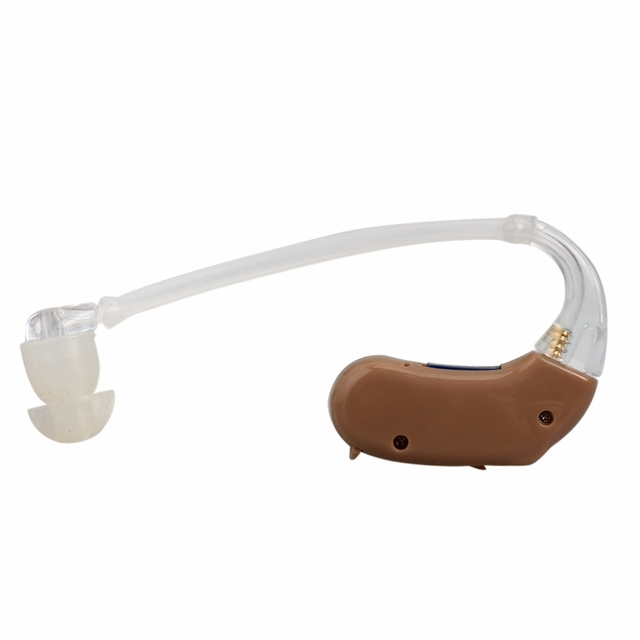 JECPP In-ear Hearing Aid Kit Digital Volume Adjustable Durable Behind the Ear Voice Amplifier Deaf Hearing Aids Brown