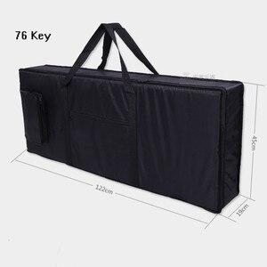Image 5 - Moda wodoodporna zagęszczony profesjonalny 76 klucz uniwersalny Instrument klawiatura torba pianino elektroniczne pokrywy skrzynka dla elektroniki