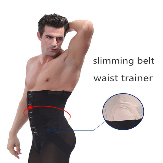 8bd1366428 Men Waist Trainer Slimming Belt Tummy Reducer Body Shaper Underwear Girdle  Fat Burn Belly Waist Cincher Abdomen Trimmer Corset