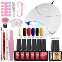YIFEI UV Gel Nail Art Kits 36W Nail Dryer Lamp Manicure UV Gel Polish Set For Nail Extension Varnish Lacquer Manicure Tools Kit