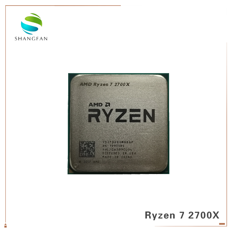 AMD Ryzen 7 2700X R7 2700X 3.7 GHz Eight-Core Sinteen-Thread 16M 105W CPU Processor YD270XBGM88AF Socket AM4