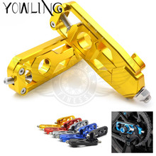 CNC Motorcycle Accessories Rear Axle Spindle Chain Adjuster Blocks chain adjuster tensioners For Yamaha MT-09 FZ-09 MT 09 FZ