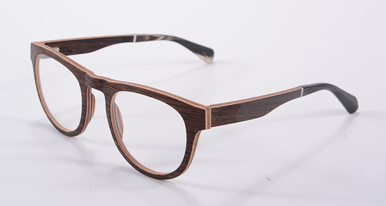 top selling full walnut wooden glasses frame 11 layers laminated wood eyeglass frame optical eyeglasses frame gozluk f5