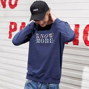 Image 2 - Pioneer camp new outono camisola hoodies dos homens de roupas de marca de moda casual letra impressa hoodies masculinos de algodão tops AWY801265