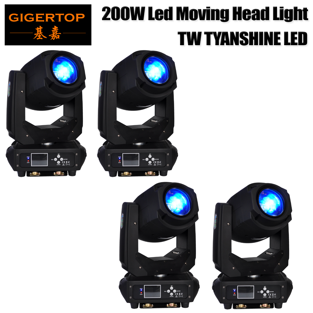 4 упак. высокое Мощность LED перемещение головы луч света 200 Вт DMX512 для сцены Дискотека DJ Свадебная вечеринка Show живой концерт свет