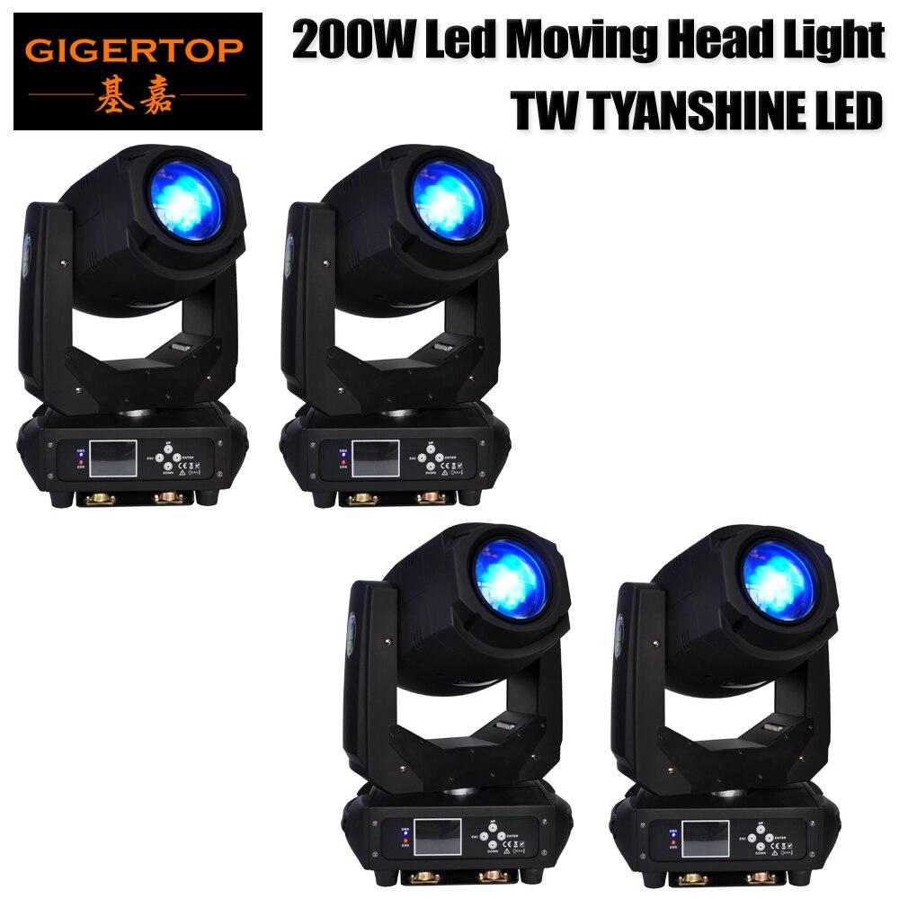 4 Pack High Power LED Moving Head Beam Light 200-Watt DMX512 For Stage Light Disco DJ Wedding Party Show Live Concert Light