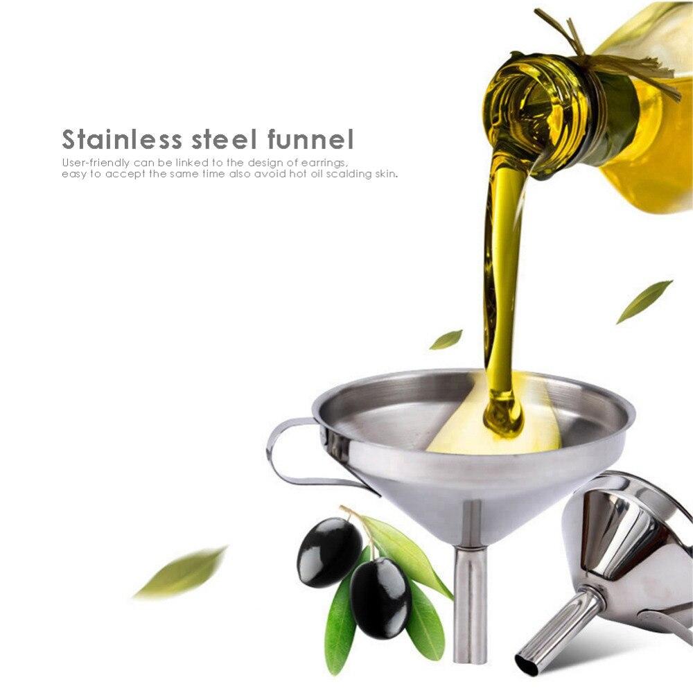 10cm/3.94inch 304 Stainless Steel Funnel Funnels Juice Jam Pickle Liquor Oil Filling Funnel
