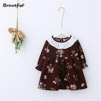 1 3Years Old Summer Baby Girls Dresses Floral Children Princess Dress Spring Autumn Toddler Clothing Korean