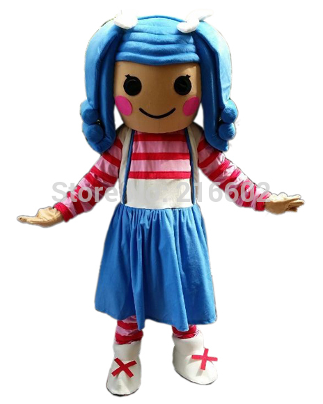 new 2017 lalaloopsy mascot costume adult size cartoon halloween mascot costume party fancy dress outfit in anime costumes from novelty special use on