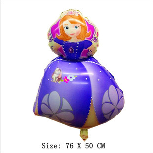 1pcs/lot wholesale Best Quality Sophia the first princess  foil balloon Kids hap