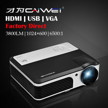 CAIWEI 1080p Home Movie Theater Projector Beamer Multimedia LED Famliy Game Film TV VGA USB Projector 2-Year Warranty