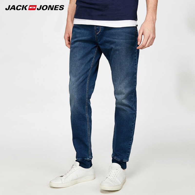 90beae9346 Jack Jones Brand 2018 NEW fashion comfortable elastic long male jeans  218132559
