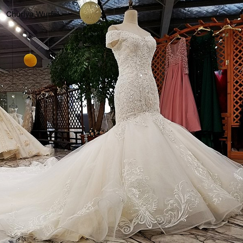 Trumpet Wedding Dresses 2019: LS02874 Mermaid Wedding Dresses 2019 Off Shoulder