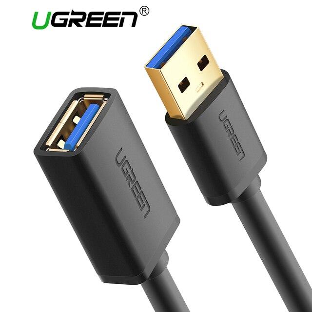 Ugreen USB кабель-удлинитель USB 3,0 кабель для Smart ТВ PS4 Xbox One SSD USB3.0 2,0 к Extender данных шнур mini USB удлинитель