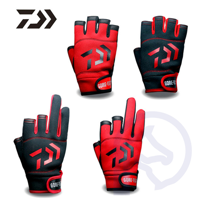 Fishing Gloves Breathable Anti-Slip Fitness Carp Fishing Accessories Spring Outdoor Three Five Fingerless Fishing Glove 1Pair