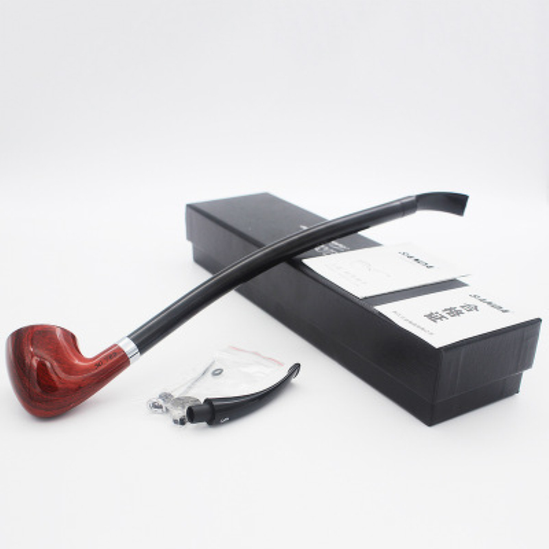 Resin Tobacco Pipe Chimney Filter Long Handle Cigarette Cigar Pipes Gift Portable Weed Grinder Smoke Mouthpiece Accessories