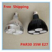 Free shipping osram par30 e27 35 w ciepły biały/biały/zimny biały doprowadziły światła ac85-265v wejście usa jazdy ic 12 sztuk/partia ce/rohs