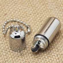 1PC Survival Waterproof Peanut Capsule Lighter Cigarette Cigar Refillable Oil Lighter Torch Key Chain