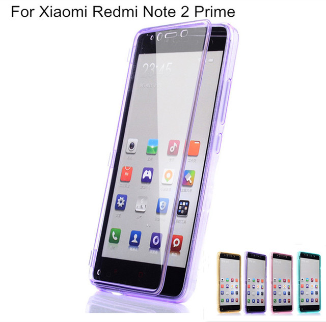 the best attitude a82af dee49 US $9.49 5% OFF|Xiaomi Redmi Note 2 Prime Case Flip Clear Front Hybrid  Cover for Xiaomi Redmi Note2 Cases 360 Degree Protection Shell Fundas-in  Flip ...