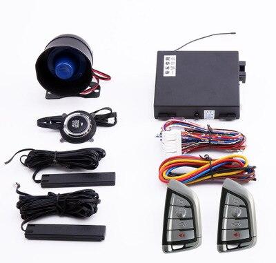 Application de démarrage à distance automatique pour tous les moteurs de voiture 12 V PKE arrêt de démarrage passif système d'alarme de voiture sans clé verrouillage Central à distance