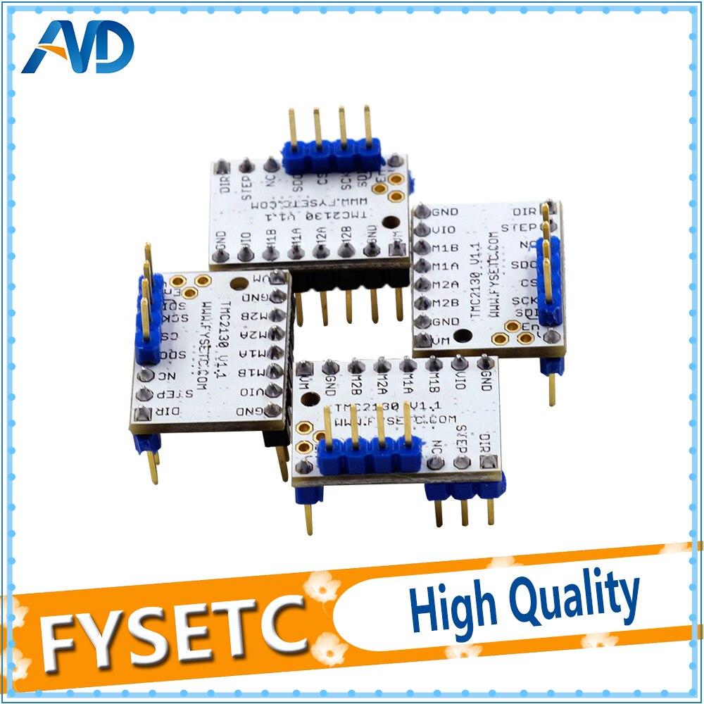 4X MKS TMC2130 V1.1 para función SPI stepstick motor paso a paso con disipador de calor ultra silencioso vs TMC2100 TMC2208 TMC2130 V1.0