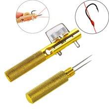 Full Metal Fishing Hook Knotting Tool & Tie Hook Loop Making