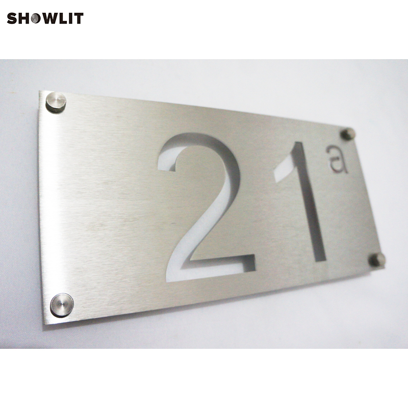 Custom Modern Address Number Sign Plaque custom acrylic frosted house sign modern number name plaque 200x140mm home