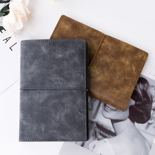 My Business Suede Leather Diary Notebook Working Study Notepad Lined Papers Journal Soft Leather Cover Stationery Gift