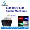400 Вт из светодиодов RGB 3In1 дым машина управления дискотеки дым-машину профессиональный осветительное оборудование