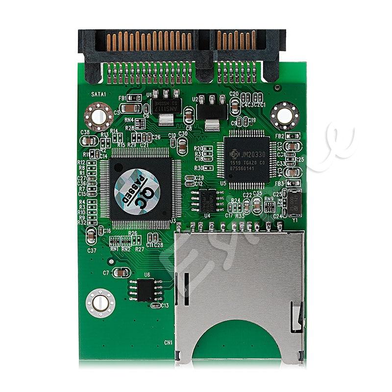 Sintech SD/SDHC/SDXC/MMC Flash Memory Card To SATA Adapter As 2.5