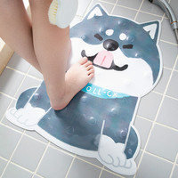 Japanese style ins floor mat cope cartoon Husky cute tide brand bathroom shower mat bathing mat cat blanket Animal carpets C0328