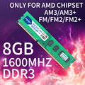Heoriady Ddr3 8gb 1600 Mhz Pc Ram Just For Socket Am3 Fm1 Fm2 Fm2+ Compatible 1333 4gb 2gb