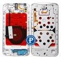 Для Motorola Nexus 6 (Xt1100, Xt1103) Центр Рамка Рамка Корпуса с Частями в Полночь Белый OEM