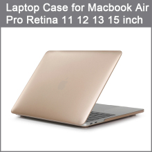 Luxury Metallic Matte Cover For Macbook Air 11 13 inch Laptop Cases for Mac Book Pro Retina 12 13 15 apple mac A1466 A1502+Gift