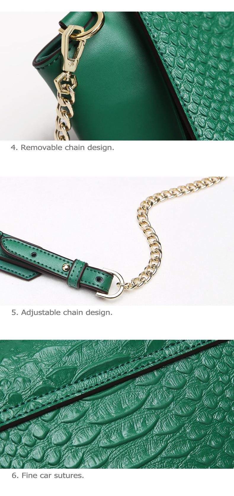 crossbody bolsa de couro rachado crocodilo textura