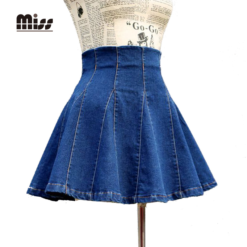 Popular Pleated Jean Skirt-Buy Cheap Pleated Jean Skirt lots from ...