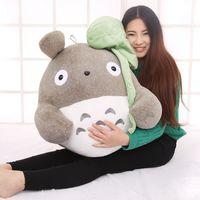 creative Lotus leaf style totoro plush toy large 50cm throw pillow,birthday gift w5231