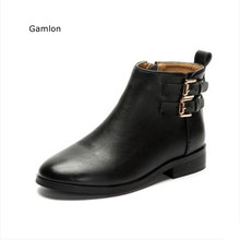 Gamlon Children's Martin Boots 2017 New Fashion Style Genuine Leather Shoes Girls Boots Baby Boots Autumn Children Short Shoes