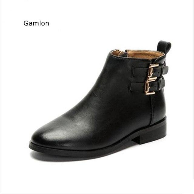 Mode martin bottes en cuir véritable de chaussu... f8As9qB