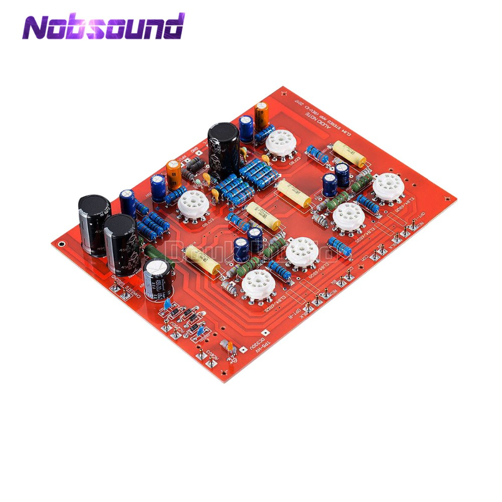 2018 Latest Nobsound Hi-End Stereo Push-Pull EL84 Vaccum Tube Amplifier PCB DIY Kit Ref Audio Note PP Board douk audio latest hi end push pull stereo kt88 valve tube amplifier with phono