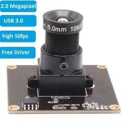 ELP Sony IMX291 USB 3.0 Webcam MJPEG YUY2 50fps 2Megapixel High Speed UVC OTG 1080P Camera Module for Android Linux Windows Mac