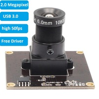 ELP Sony IMX291 USB 3.0 Webcam MJPEG YUY2 50fps 2Megapixel High Speed UVC OTG 1080P Camera Module for Android Linux Windows Mac